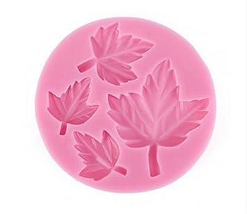 daorier hojas forma Pop molde cortador de galletas molde de silicona para repostería para galletas para horno: Amazon.es: Hogar