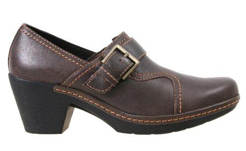 Clarks Womens Shoes 34967 Freesia Isle Brown Leather, bro...
