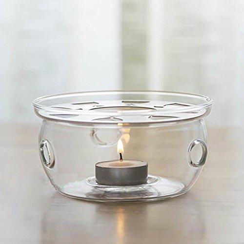 TAMUME Transparent 12 7 12 7 7 5cm Tetera Mas Calido Calentador Te Adecuado con Regalos Candelita para 200-600ML Tetera de Cristal Teapot Warmer (Cristal)