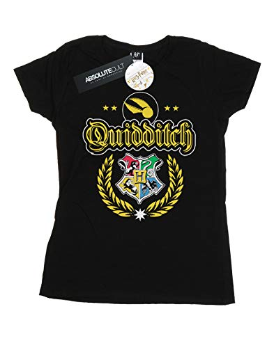 Harry T shirt Quidditch Noir Crest Potter Femme pqwISpr