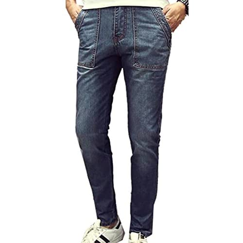 f4180dd51a8 Vska Men s Stylish Loose Fit Washed Cotton Stretch Denim Jeans outlet