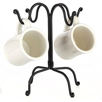 Amazon Com Home X Four Hook Mug Tree And Cup Rack