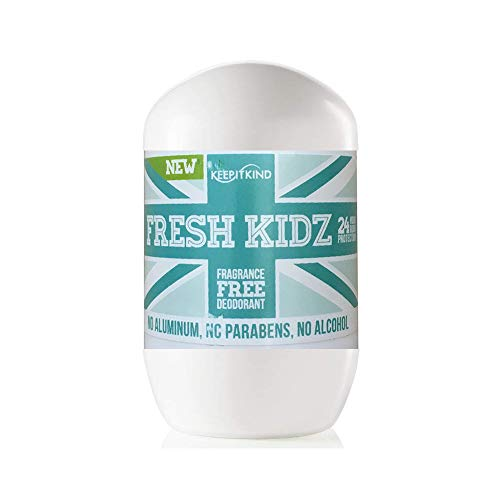 Keep it Kind Fresh Kidz Natural Roll On Deodorant 24 Hour Protection - Unscented Unisex