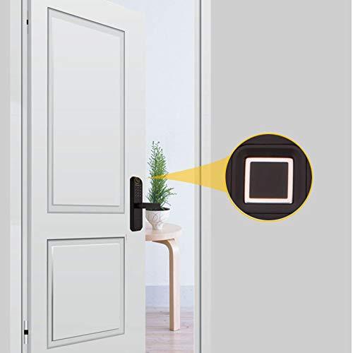 BLWX - Smart Door Lock-zinc Alloy-Indoor Wooden Door Fingerprint Lock Home Security Door Lock Smart Lock Password Lock Electronic Lock Office Rental Room Card-Size: 23.5X5.8cm Door Lock (Color : B) by BLWX-home renovation. Door lock (Image #2)