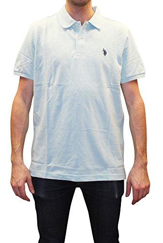 U.S. Polo Assn. Men's Classic Shirt, Artist Aqua Heather, S