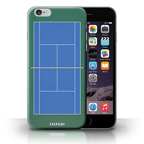 Kobalt® protector duro de nuevo caso / cubierta para el iPhone 6+/Plus 5.5 | Pista dura azul Diseño | Canchas de tenis colección