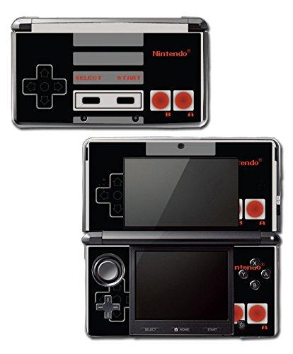 Retro NES Nintendo Entertainment System Original Controller Art Pixel Gamer Video Game Vinyl Decal Skin Sticker Cover for Original Nintendo 3DS System Nintendo 3ds Skin