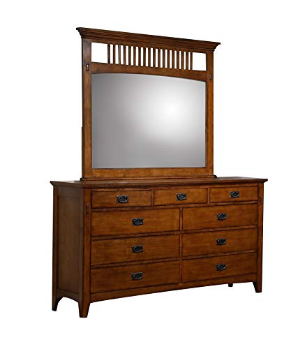 Sunset Trading SS-TR750-DR_MR Tremont Bedroom Dresser Mirror Set, Warm Chestnut
