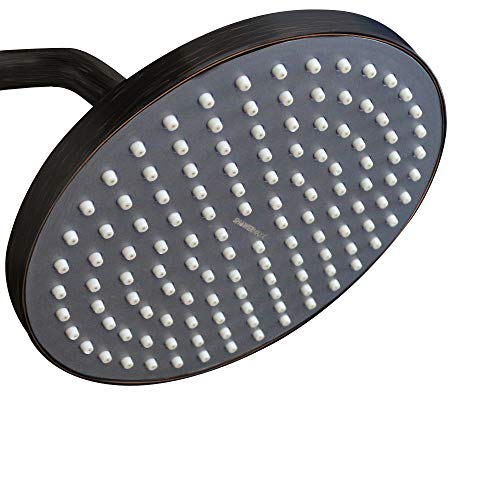 (ShowerMaxx | Luxury Spa Series | 8 inch Round High Pressure Rainfall Shower Head | MAXX-imize Your Rainfall Experience with Easy-to-Remove Flow Restrictor Rain Showerhead | Oil Rubbed Bronze Finish)