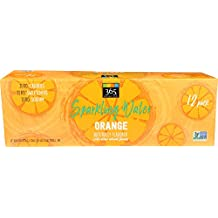 Whole Foods 365 Everyday Value, Sparkling Water Orange, 12 Count