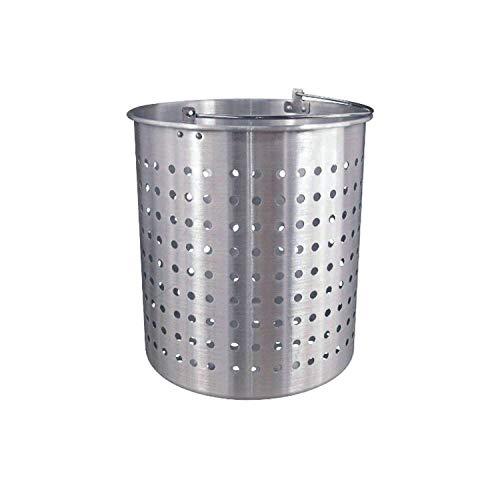 (Tiger Chef 20 Quart Aluminum Steamer Insert Basket for Stock Pot Steam, Boil, Fry Accessory Basket)