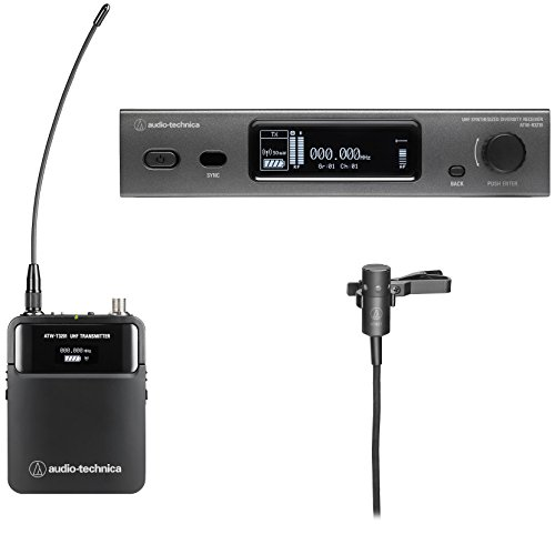 Audio-Technica 3000 Series Wireless System Wireless Microphone System with Lavalier Mic (ATW-3211/831DE2)