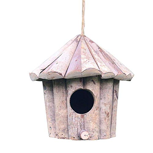 Funarrow Nest Box with Natural Wood, Suspension Design, Suitable for Gardens, Terraces, Balconies