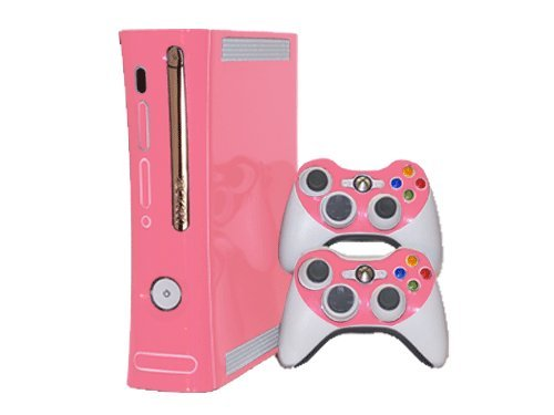 xbox 360 console skins pink - 2