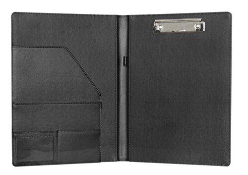 Clobeau Multifunctional A4 Leather Clipboard Office Meeti...