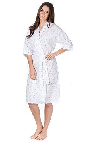 Mujer Pijama tejido algodón/poliéster Pijama/Pijama verano bata - Lila Flor, Grande: Amazon.es: Ropa y accesorios