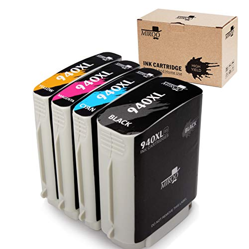 MIROO Compatible Ink Cartridge Replacement for HP 940XL (Black,Cyan,Magenta,Yellow, 3-Pack) by MIROO