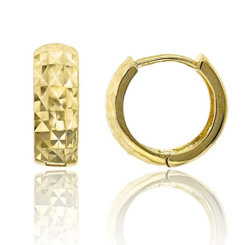 14K Yellow Gold Diamond Cut 4.