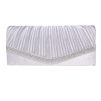 Fashion Road Evening Clutch, Womens Rhinestones Envelope Clutch Purse, Handbags For Wedding And Party