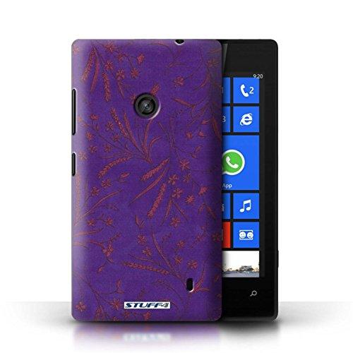 Etui pour Nokia Lumia 520 / Violet/Rose conception / Collection de Motif floral blé