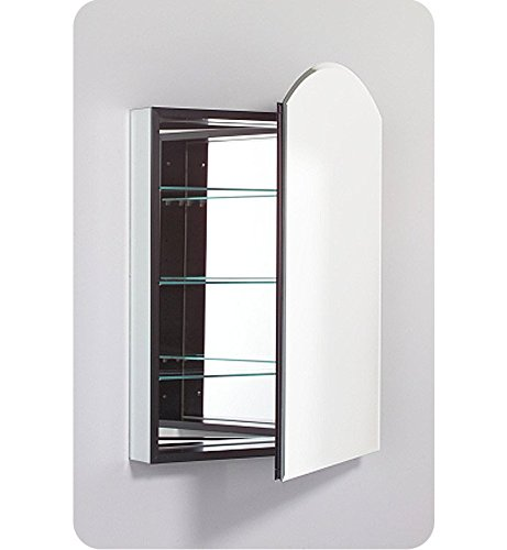 Robern PLM2434WBA PL Series Arch Beveled Mirrored Door, 23-1/4-Inch W by 34-Inch -