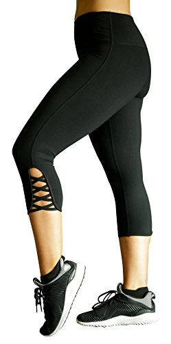 MÜV365 Ultimate Yoga Pants for Women | Crisscross Strappy Workout Leggings with Hidden Pocket