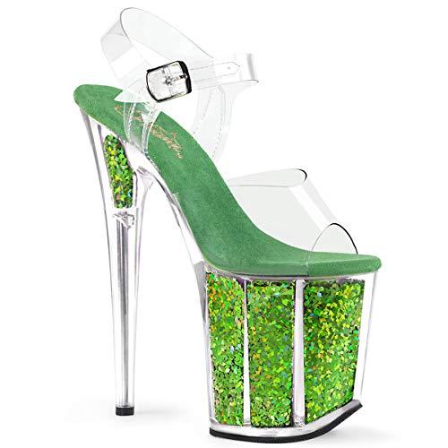 (Pleaser Women's Flamingo-808GF Ankle-Strap Sandal)