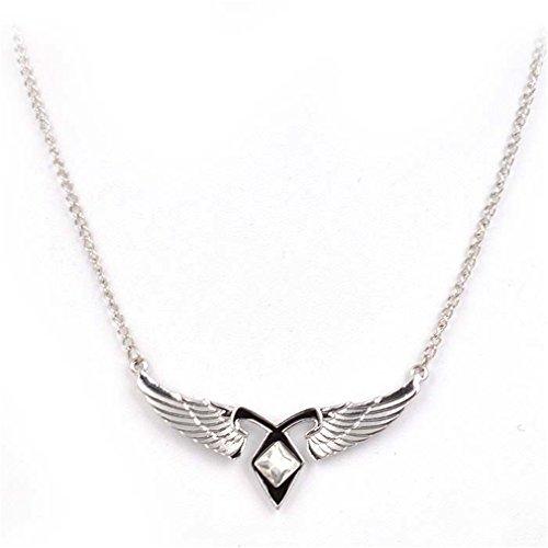 xiukun Mortal Instruments City of Bones Angel Wings Power Pendant Necklace -