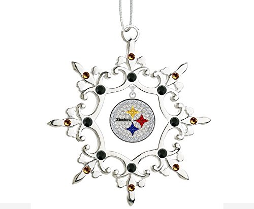Final Touch Gifts Pittsburgh Steelers Rhinestone Christmas -