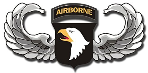 Vinyl USA US Army 101st Airborne Jump Wings Decal Sticker 5.5