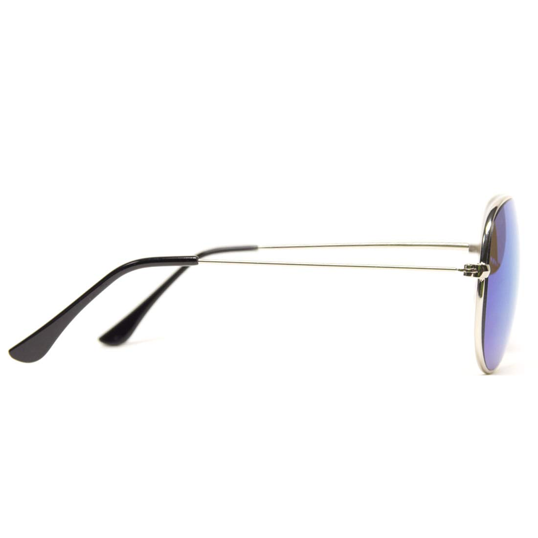 c36132be09dbc Amazon.com  GloFX Metal Pilot Aviator Style Diffraction Glasses – Blue  Mirror - 3D Prism Firework Grating  Clothing