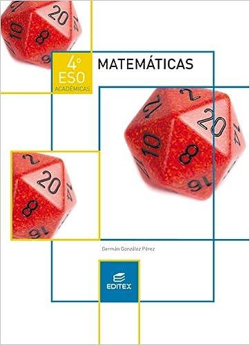 Matemáticas 4 ESO académicas Secundaria: Amazon.de: Germán ...