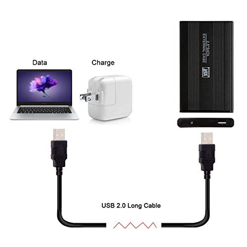 10 Foot Black USB 2.0 High Speed Male A to Male A Cable