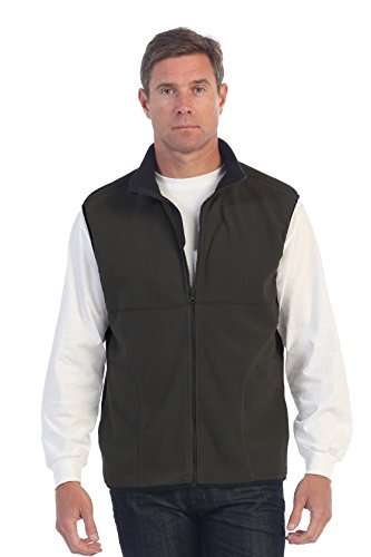 Gioberti Men's Full Zipper Polar Fleece Vest, Heather Charcoal, X-Large - Mens Polar Fleece