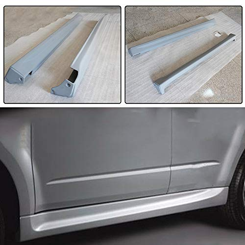 jcsportline fits Subaru Forester Hatchback 2009-2012 PU Side Skirt Extensions Lip Rocker Pannels - Subaru Fiber Carbon Skirt
