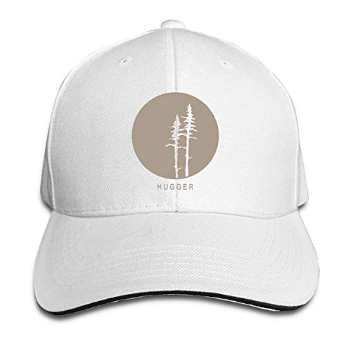 (Tree Hugger Outdoor Snapback Sandwich Cap Adjustable Baseball Hat Hip Hop Hat White)