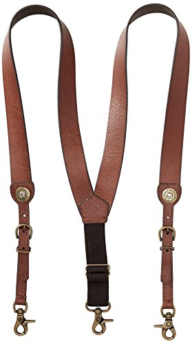 Nocona Belt Co. Men's Shot Shell Leather Suspender, Tan, X-Large by Nocona Belt Co.