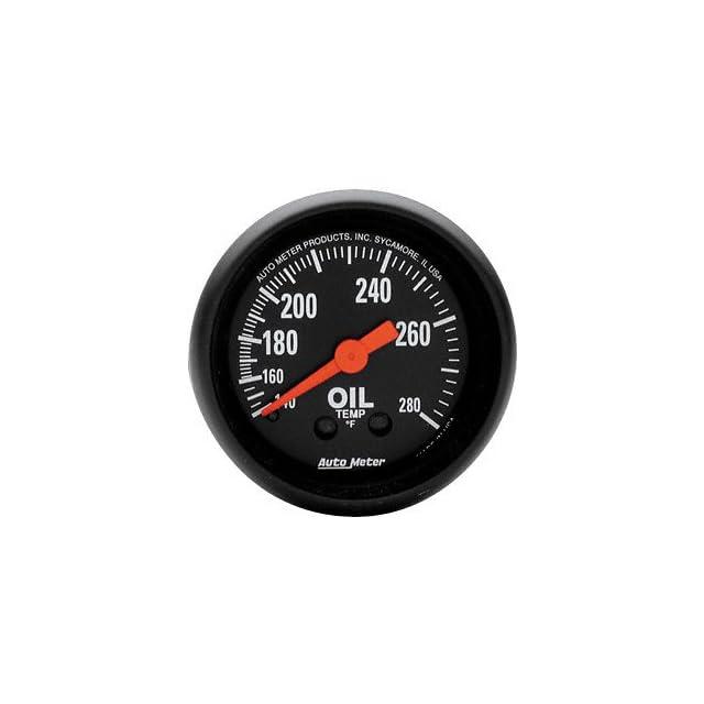 Auto Meter 2609 Z Series Mechanical Oil Temperature Gauge