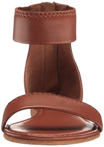 Delle Medio Frye Nero Sandalo Cognac Donne Piatto fOw5nqSgx