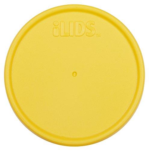 iLIDS Regular Mouth Mason Jar Storage Lid, Yellow, 2-Pack
