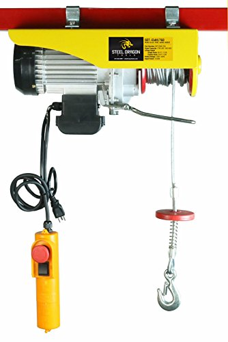 Steel Dragon Tools 1760 LBS Mini Electric Wire Cable Hoist Overhead Crane Lift with Remote Control