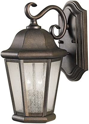Sea Gull Lighting OL5901CB Martinsville Medium Two Light Outdoor Wall Lantern, Corinthian Bronze