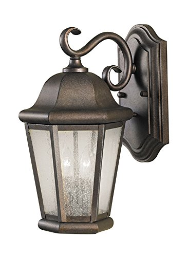 Sea Gull Lighting OL5901CB Martinsville Medium Two Light Outdoor Wall Lantern, 14.5