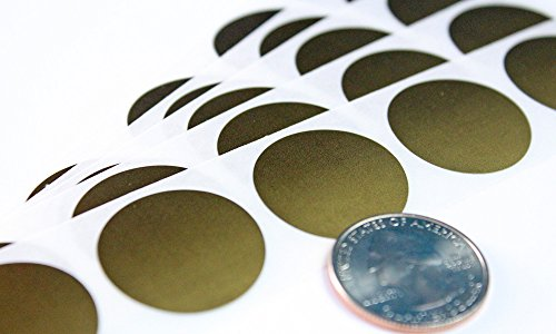 My Scratch Offs 1 Inch Gold Round Scratch Off Sticker Labels - 100 Pack
