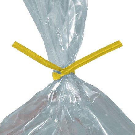 6'' x 5/32'' Yellow Paper Twist Ties