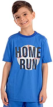 KAAP Athletic Boy's Sport Print Short Sleeve Activewear T S