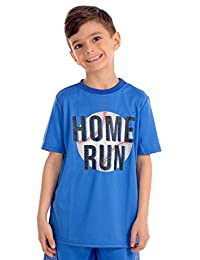 KAAP Athletic Boy's Sport Print Short Sleeve Activewear T Shirt