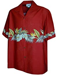 Pacific Legend Mens Anthurium Bird of Paradise Shirt