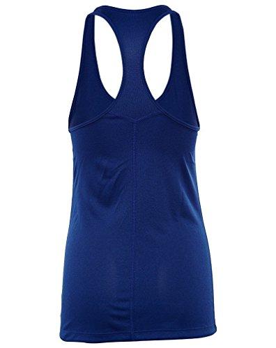 Nike W Nk Dry Tank Balance - Top sin mangas para mujer azul (deep royal blue)
