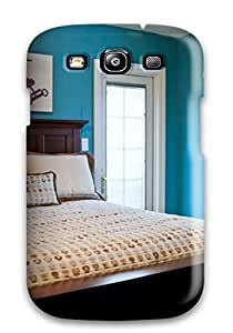 Fashion Protective Blue Vintage Boys Bedroom Case Cover For Galaxy S3